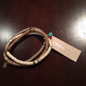 Chan Luu Neutral Beaded Bracelets, set of 3